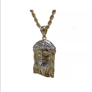 Other - SOLID Gold Jesus Pendant & Solid Rope Chain SET